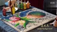 美国专利流彩油画皇后画院刘比华公开课第一集花瓶