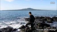 奥克兰塔卡普纳海滩黑石步道 Takapuna Beach