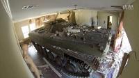 坦克用来拆房很管用