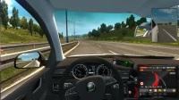 【欧洲卡车模拟2】斯柯达小轿车,高速公路一路狂奔,就是爽。