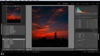 使用LR将普通夜景照片制作成火烧云效果