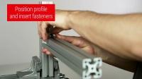 型材紧固件安装指南 - item 通用紧固件