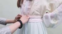 老三与花花汉服小姐姐示范一片式对襟半臂襦裙穿法 2019.06.27