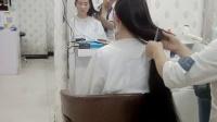 妹妹理发店剪掉长发_超清