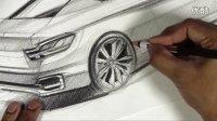 宝马4系汽车设计线稿手绘视频教程1