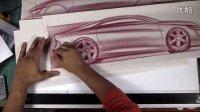汽车侧视图设计单搞手绘视频教程