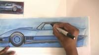 How to Draw Cars汽车设计手绘教学
