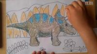 儿童画三角龙根李老师学画画