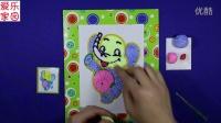 亲子游戏 小象雪花泥画 智力游戏 小象雪花泥画 儿童涂画游戏