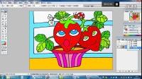 生病的小草莓(下)儿童画跟李老师学画画