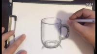 绘画直播啦! 玻璃杯子 写实绘画全过程