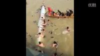 实拍:龙舟赛发生意外翻船 致多人失踪...