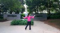艾尼丽清姐妹原创广场舞《唐伯虎点秋香》编舞背面演示丽清