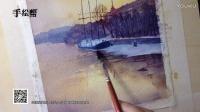 冬日暖阳-水彩风景系列7-手绘帮-朱敏光