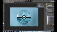 Photoshop第18集教程-PS合成水晶球里面的海洋世界