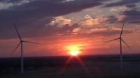 新疆布尔津五彩滩日落晚霞火烧云
