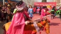 内丘县家乐园广场  大留村秧歌队表演  拉耧轴