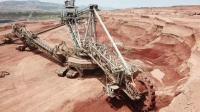 巨型挖煤机挖煤录像