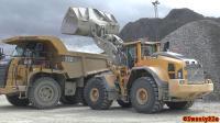 沃尔沃L260H装载机CAT772卡车