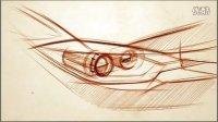 如何单稿绘制汽车车灯手绘教程