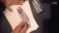 汽车设计之侧视图手绘及马克笔上色