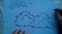 """儿童画如何画山""""根""""李老师学画画"""