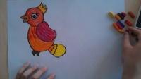 儿童画画鸟色粉画法