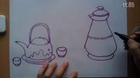 儿童画水壶根李老师学画画