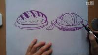 儿童画画面包根李老师学画画