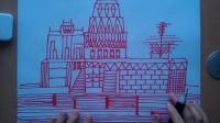儿童画画建筑与房子讲解线条的疏密运用根李老师学画画.mp4