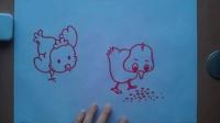 儿童画画小鸡根李老师学画画
