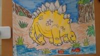 儿童画画恐龙5根李老师学画画