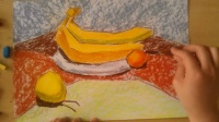 水果静物色粉画法完整版根李老师学画画