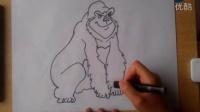 儿童画大猩猩根李老师学画画