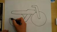 简笔画摩托车李老师学画画