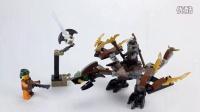 【月光砖厂】乐高LEGO2016幻影忍者70599寇的大地神龙乐高速组评测