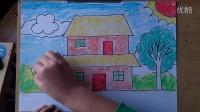 儿童画简笔画房子微课跟李老师学画画