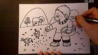 儿童画小朋友喂小鸟爱小鸟儿童画跟李老师学画画