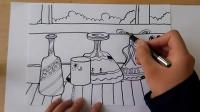 瓶子的组合线描跟李老师学画画.mp4