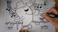 爱音乐的芒果先生(上)儿童画跟李老师学画画