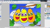 三个梨宝宝(下)儿童画电脑美术跟李老师学画画