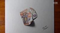 太逼真了!50欧元钞票居然是画出来的!