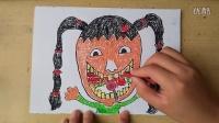 儿童画如何预防蛀牙2色粉上颜色幼儿绘画(3-5岁)跟李老师学画画