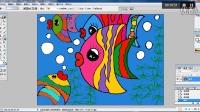 儿童画色彩斑斓的鱼儿2电脑上色幼儿绘画(3-5岁)跟李老师学画画