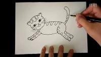 可爱的猫咪幼儿美术3-5岁跟李老师学画画.