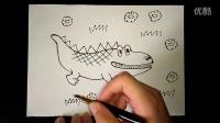 小鳄鱼幼儿美术3-5岁跟李老师学画画.