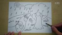 下雨天蜗牛搬家怎么画3-5岁幼儿美术跟李老师学画画
