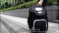 【环保再生纺织品】太阳能拉杆环保LED後背包