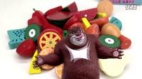 熊大玩转蔬菜水果切切看 过家家亲子游戏