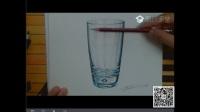 【艺达】彩铅写实入门教程—蓝色玻璃杯